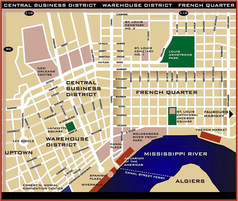 DISCOVER NEW ORLEANS Ultimate Destinations Hotels Restaurants – New Orleans French Quarter Tourist Map